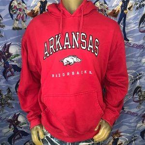 Arkansas Razorbacks Embroidered Hoodie Sweatshirt